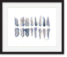 Resultado de imagen de watercolor painting abstract art teeth