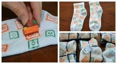 Lego party favor-make your own printed socks