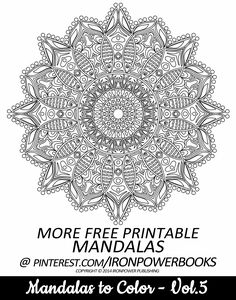 Share your colored work with this FREE printable mandala coloring page. Visit http://www.amazon.com/Mandalas-Color-Mandala-Coloring-Adults/dp/149733716X for a paperback copy with 51 Mandala Desgins. We've got more FREE Mandalas to print on our boards so follow us!
