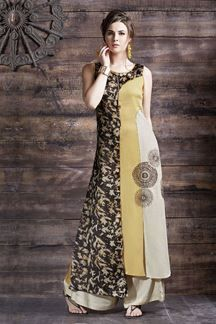 Show details for Trendy multicolor kurti with resham