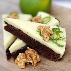 Vit chokladtryffelkaka med lime - Recept - Tasteline.com