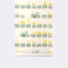 Tiny Train Wallpaper - Nicco's Room