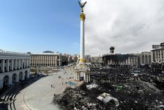 wishing for PEACE in Ukraine | AFP/Getty Image, based off original work by: http://www.reddit.com/r/pics/comments/1ydjc9/before_after_kievs_independence_square_ukraine/ | Left image: Independence Square, Kiev, Ukraine,  April 22, 2009 ... Right image: Independence Square, Kiev, Ukraine, February 20, 2014.