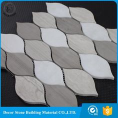 2017 hot style leaf shaped water jet marble mosaic tile with good price