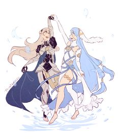 au where they are happy and the only thing they have to worry abt is corrin stepping on her partner's feet when she dances so azura tries to help her