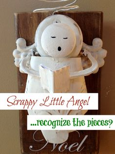 Use scrap pieces around the workshop to create your own Christmas Angel! www.homeroad.net