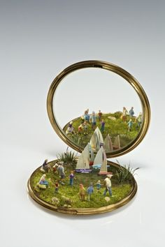 The miniature mixed media sculptures of Kendal... | Exhibition-ism