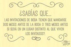#bodas #ElBlogdeMaríaJosé #invitaciónboda #sabíasque