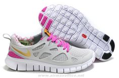 2014 White Grey Pink Gold Nike Free Run 2 443816-018 Womens