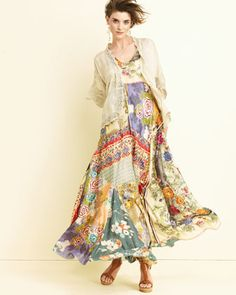 Printed Georgette Maxi Dress by Johnny Was Collection at Neiman ...