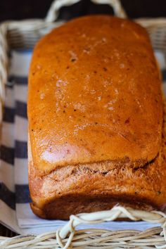 Easy Tomato Basil Bread | Imagine this bread with a vegetable pasta salad or as a pepperoni and cheese sandwich - toasted!