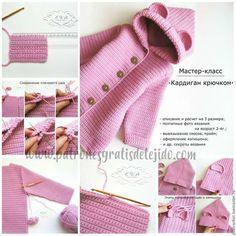 New crochet baby scarf pattern children 47 ideas Crochet Baby Sweater Pattern, Crochet Baby Jacket, Baby Sweater Patterns, Crochet Baby Booties, Crochet Cardigan, Baby Knitting Patterns, Baby Cardigan, Cardigan Bebe, Baby Girl Cardigans