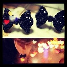 Pretty and dainty bows add a pretty look to the ears.    Post back.