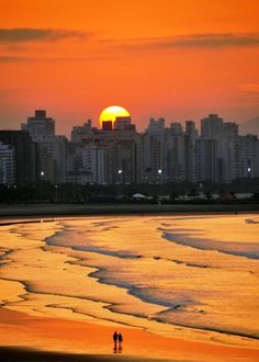 Sunrise walk on the beach, São Vicente,São Paulo - Brazil Places To Travel, Places To See, Places Around The World, Around The Worlds, Beautiful World, Beautiful Places, Amazing Sunsets, Beautiful Sunrise, Beach Walk