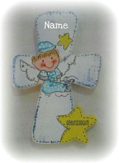 Taufgeschenk - Kinderkreuz Grief, Guardian Angel Pictures, Crosses