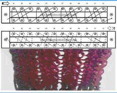 Loom Knitting stitches ♥LLK♥  work and diagram # 30