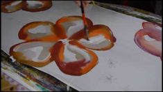 Silk painting - Flower on scarf - Easy steps on how to paint on silk