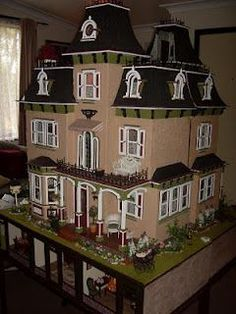 Two Beacon Hill's put together to make one dollhouse with shops underneath.!!!!