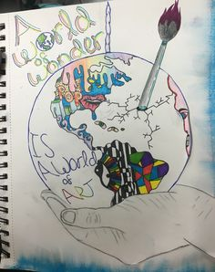 """Visual Journals #10 - Intro Art - """"Art History"""" - NGHS Room 406"""