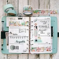 My Planner Cover Is This Shade I Also Have Some Washi In The Blue Color Simone Tischer Kalender Selbst Gestalten Filofax