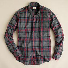 J. Crew Heathered button-down shirt in Faulkner plaid $70