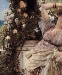 Thou Rose of all the Roses - Sir Lawrence Alma-Tadema - Detail