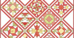 Join us..     Each Thursday for the next 12 weeks we will demonstrate one of the blocks in the quilt pictured. Choose your own fabric coll...