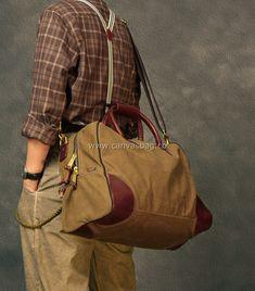 waxed canvas duffle bag Canvas Duffle Bag, Tote Bag, Waxed Canvas, Longchamp, Leather Bag, Bags, Handbags, Oilcloth, Totes