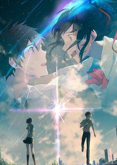 Taki and Mitsuha. <3<3<3