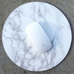 Faux Marble Circle Mousepad / Placemat by GoldenChildTheLabel