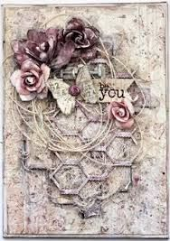 Image result for shabby chic mixed media canvas