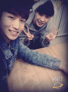 Lovely leader-nim Seunghwan and birthday boy Kyle
