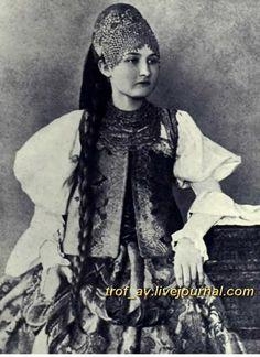 "oI< Девушка в ""повязке"", 1900е г."