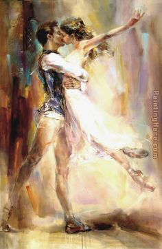 Anna Razumovskaya Love Story 2 Painting: this website offers 100% handmade reproductions of this and other prints.