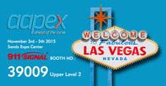 See you at Sands Expo Las Vegas, NV