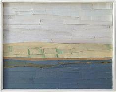 "Marie Van Elder Looking to Shores Oil collage on board. 14"" x 18"" $1,500 Mill Valley, California"