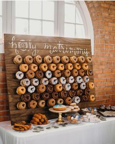 "6,484 Likes, 219 Comments - Wedding Forward™ | Blog (@weddingforward) on Instagram: ""Holy matrimony We all need something sweet to start the day right. This donut wall is such a…"""