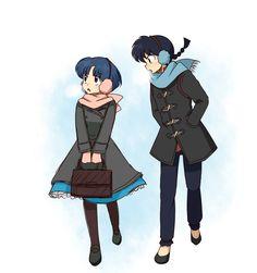Ranma y Akane ~ Fansite:http://eluniversoderanma.wix.com/eluniversoderanma - Todo sobre Ranma ½! Tags: eluniversodeRanma, Ranma 1/2, Akane, Fanart, Ranma Saotome, Ranma ½, Rumiko Takahashi