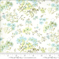 Blue Green White Floral Fabric, 18700 11, Moda Dover Field Floral Linen White, Brenda Riddle, One 1 Yard Cut Bty by Jambearies on Etsy Fabric Patch, Fabulous Fabrics, Riddles, Floral Fabric, Blue Green, Thing 1, Duck Egg Blue, Puzzle, Flower Fabric
