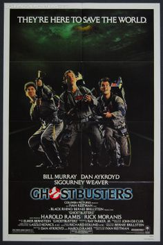 How can you be a child of the 80's and not love Ghostbusters? I don't think its possible.