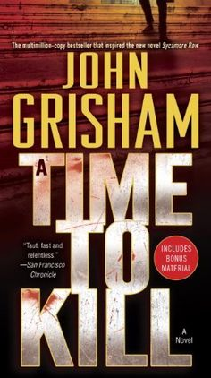 Again, another Grisham read I'm highly curious about.  Don't worry, i won't be book bouncing - hence this list.:  A Time to Kill: A Novel by John Grisham, http://www.amazon.com/dp/B003B02O0A/ref=cm_sw_r_pi_dp_GrFMsb17JRNYM