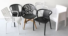 Various design garden chairs in WOONLOODZ. New modern items every year! Though historic inside notion, Garden Chairs, Garden Furniture, Outdoor Furniture, Present Day, Wishbone Chair, Decoration, Garden Design, Pergola, Dining Chairs