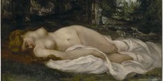 """Nu couché"" 1866- Gustave Courbet"