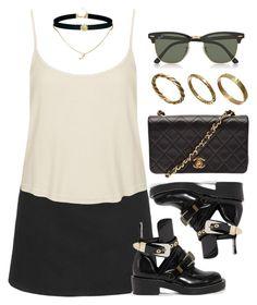 """Style #10839"" by vany-alvarado ❤ liked on Polyvore featuring Topshop, Balenciaga, Chanel, Ray-Ban, ASOS and Made"