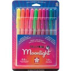 Moonlight Sakura Gelly Roll Pens Supply List for Adult Coloring Books Zenspiration Zentangle