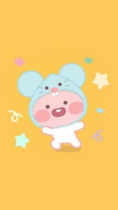 Best Quotes Wallpapers, Cute Cartoon Wallpapers, Wallpaper Quotes, Apeach Kakao, Soft Wallpaper, Kakao Friends, Friends Wallpaper, Cute Cartoon Animals, Kawaii