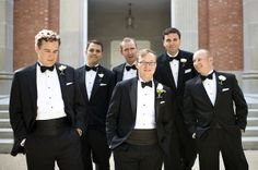 gents in classic tuxedos | Alyse French #wedding