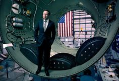 <strong>PROPHET MOTIVE</strong> Elon Musk, co-founder of Tesla and OpenAI, inside part of a SpaceX Falcon 9 rocket, in Cape Canaveral, Florida, 2010. Photograph by Jonas Fredwall Karlsson.