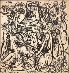 Jackson Pollock (American, 1912-1956), Echo: Number 25, 1951, 1951. Enamel on canvas, 231.1 x 218.4 cm.