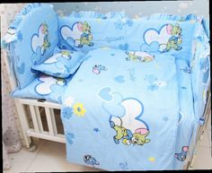 49.90$  Buy here - http://ali7qq.worldwells.pw/go.php?t=32334608779 - Promotion! 6PCS Mickey Mouse baby bedding set crib baby cot jogo de cama (bumpers+sheet+pillow cover) 49.90$